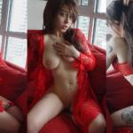NudeCosplayGirls.com - April Hylia akaWaifu nude Red Lace