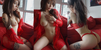 NudeCosplayGirls.com - April Hylia akaWaifu nude Red Lace