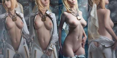 NudeCosplayGirls.com - Helly Valentine nude Saber Bride