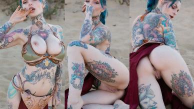 NudeCosplayGirls.com - Riae nude Slave Leia
