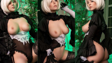 NudeCosplayGirls.com - Disharmonica nude 2B Black Lingerie