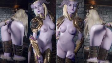 NudeCosplayGirls.com - Vandych Draenei nude Cosplay