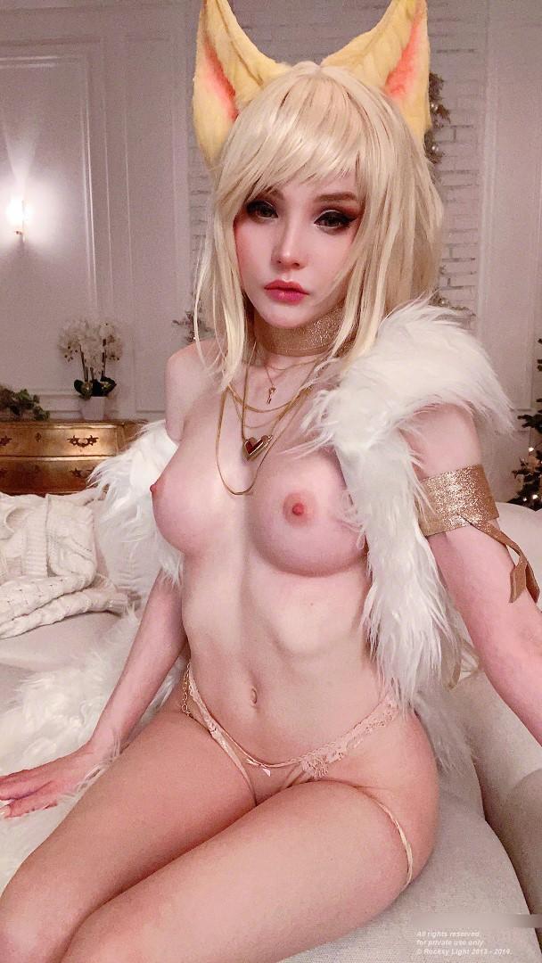 Rocksy Light Ahri Nude Cosplay 0073