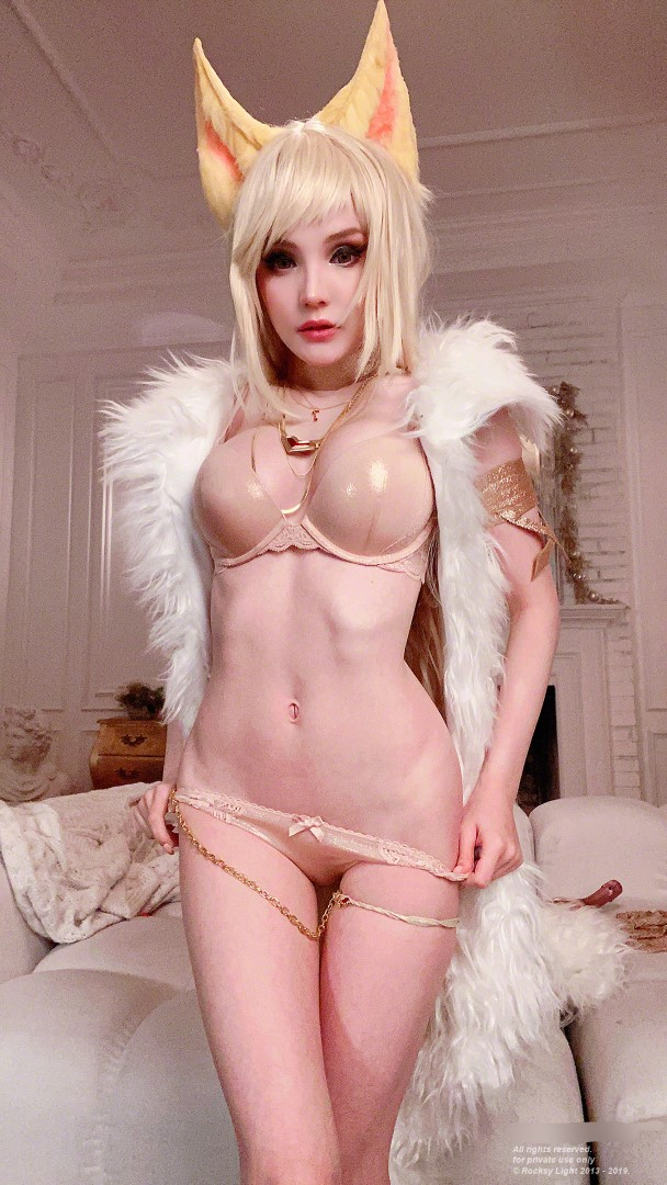 Rocksy Light Ahri Nude Cosplay 0093