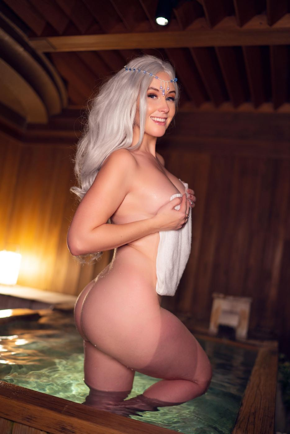 Meg Turney Onlyfans Nude Winter Goddess Onsen Leaked0004